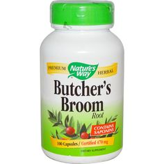 Nature's Way, Butcher's Broom, Root, 470 mg, 100 Capsules  New to iHerb? Use coupon code NWB338