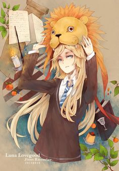 The Lion hat was the actress that played Luna lovegood's favorite thing she ever worn making the movies
