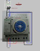 Esquemas eléctricos: CONTACTOR CON RELOJ HORARIO