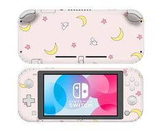 Pink Moon Switch Lite Skin, Cute Skin For Switch Lite, Nintendo Switch Sticker Decal Vinyl Wrap, Switch Lite Decal Nintendo Switch System, Decals, Sticker, Pink Moon, Cute Gif, 6 Years, Nintendo Consoles, Video Games, Gaming