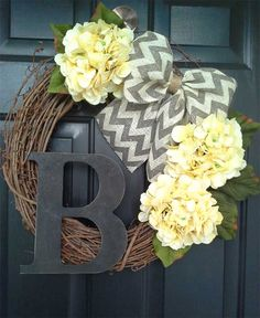 Front Door Wreath Monogram