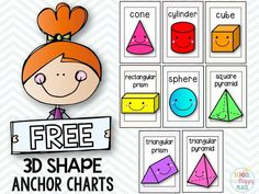 School Is a Happy Place: You Better Shape Up: Activities for 2D and 3D Shapes (Including a FREE Set of Anchor Charts)