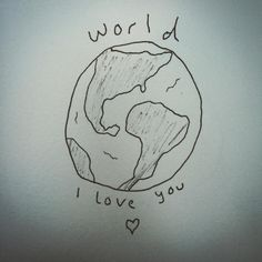 world i love you Cute Tattoos, New Tattoos, Small Tattoos, Tatoos, Matthew Gray Gubler Art, Pretty Pictures, Cool Photos, Pretty Pics, Thing 1