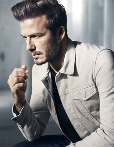 As with all photos of David Beckham in clothing, they're flawless. | David Beckham's New H&M Ads Are So Beautiful They Should Be Illegal