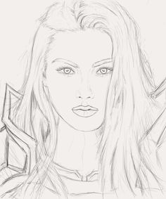 Just the basic sketch for upcoming portrait drawing of Blood Elf Paladin.