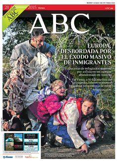 La portada de ABC del viernes 28 de agosto
