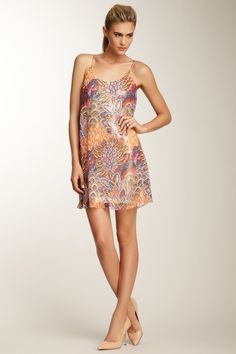 Summer Leaves Sequin Sleeveless Dress