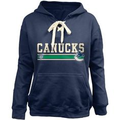 b794726c2 Youth Vancouver Canucks Old Time Hockey Navy Blue Carey Skate Lace Up  Pullover Hoodie. Coyotes HockeyTeam ApparelVancouver CanucksSan Jose  SharksHockey ...