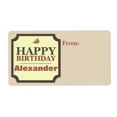 Shop Happy Birthday, Cream, Brown, Red Personalized Label created by C_Katt. Red Birthday Party, Happy Birthday, Personalized Labels, Address Labels, Create Yourself, Cream, Brown, Happy Brithday, Creme Caramel