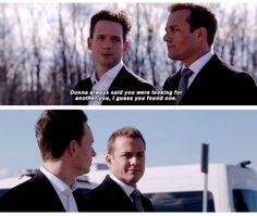 Harvey didn't deny it!! #Marvey #Suits