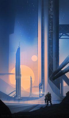 Sci Fi World – Art by Kyle De Silva on ArtStation.