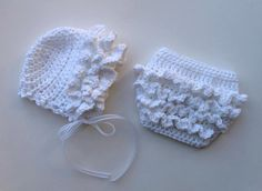 Ruffled Baby Bonnet Hat by crochetbyjennifer