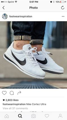 the latest 10156 c64b3 White Sneakers Nike, Cortez Ultra, Black And White Nikes, Hype Shoes,  Sneaker