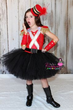 Nutcracker inspired tutu costume in red by SofiasCoutureDesigns