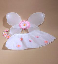 3 Piece Baby Toddler Fairy Set Flower Tutu Wings Soft Hairband Daisy Fancy Dress   eBay