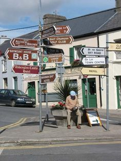 Clifden, Ireland.   I met my Aunt Peggy for the 1st time in the Alcock and Brown reastaurant/bar.  This village is great.