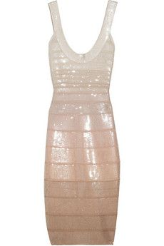 Hervé Léger | Sequined bandage dress | NET-A-PORTER.COM