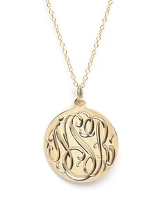 Add some vintage charm to any outfit with a monogram pendant - perfect alone or for layering, this is a piece you will reach for again and again.