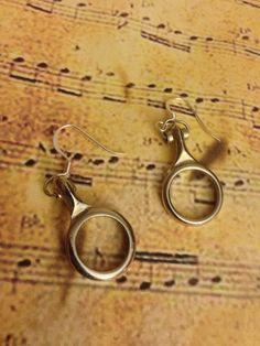 Clarinet Earrings, Instrument Earrings, Instrument Jewelry, Clarinet Jewelry, Music Jewelry, Music Earrings, Clarinet Key, Graduation Gift by TheAviaryCreations on Etsy