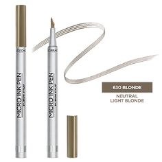 Try Brow Stylist Micro Ink Pen by L'Oréal Paris. This smudge-resistant, waterproof eyebrow tint pen with a comb tip applicator gives natural looking, hair like effect. Eyebrow Makeup Tips, Eyebrow Tinting, Eyebrow Pencil, Makeup Dupes, Eyeshadow Makeup, Beauty Makeup, Light Brunette, Brow Tutorial, Hair Beauty