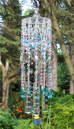 The Beach Vintage Crystal Wind Chime