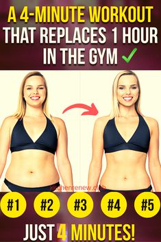 An Amazing workout that replaces 1 hour in the gym! An Amazing workout that replaces 1 hour in the gym! – Healthy Life Tips and Advices Health And Fitness Tips, Fitness Diet, 4 Minute Workout, Interval Training, Training Tips, Weight Loss Transformation, Fun Workouts, How To Lose Weight Fast, Healthy Life