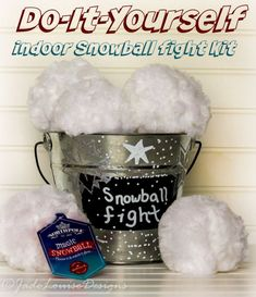 DIY Indoor Snowball Fight and NorthPole Christmas Gift Ideas