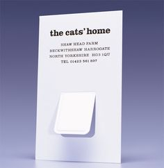 Creative business card for Cat's Home
