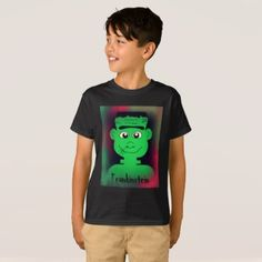 Frankinstein Design T-Shirt - Halloween happyhalloween festival party holiday