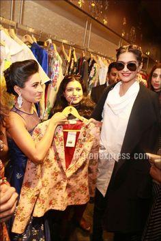 Sonam Kapoor unveils designer Parul J Maurya's collection. #Bollywood #Fashion #Style #Beauty #Hot