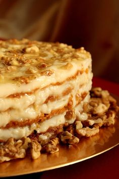 Polish Honey Cake With Walnuts...Google Chrome browser will easily translate page (1) From: Rustic Kitchen, please visit