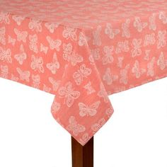 Pink Butterfly Jacquard Cotton Tablecloth Fluttershy carrier
