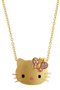HK |❣| HELLO KITTY Butterfly Necklace