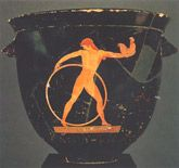 Based on the style of the vases he painted, the Berlin Painter lived about 500-480 BC. His vases generally show one person, or a couple of people, alone in the middle of the scene, with a lot of black around them