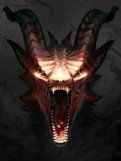 Unlike Fearghus and his kin, she saw no beauty in this beast. No sense of grace or elegance. Just a cold-blooded killer. Just looking at him made her skin crawl. (Dragon Actually) Monster Art, Monster Design, Demon Art, Creature Concept Art, Creature Design, Dark Fantasy Art, Dark Art, Fantasy Creatures, Mythical Creatures