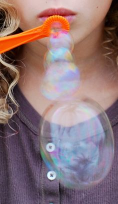 Blowing bubbles is one of my favorite things...tadadadada (you know the movie The Sound of Music, right?)