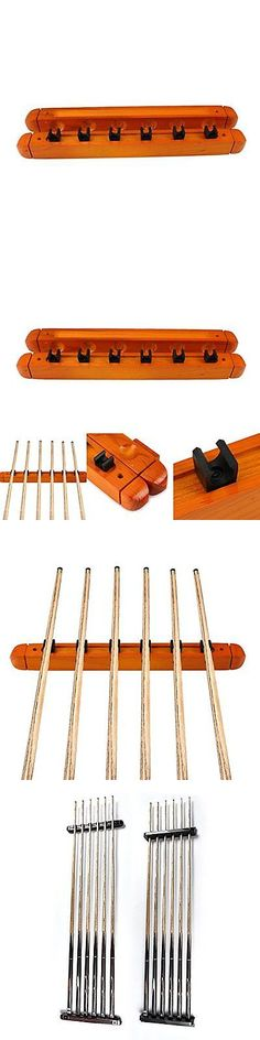 Ball and Cue Racks 75185: Ueb Billiard Pool Wall Mount Hanging 6 Cue Sticks Wood Rack Holder For Snooker -> BUY IT NOW ONLY: $44.09 on eBay!