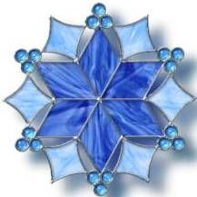 stained glass suncatcher - would be lovely as a snowflake, using bevels.