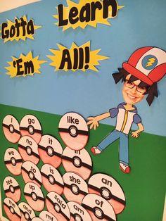 Gotta Learn Em All Pokemon Bulletin Board