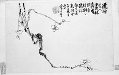 Plum blossoms  Chinese Qing dynasty dated 1744 Li Fangying (Chinese, 1696–1755 Chinese)