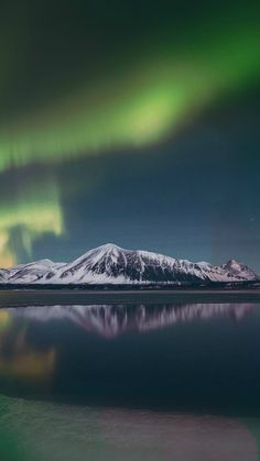 Aurora Night Sky Green Bokeh Instagram Art Nature #iPhone #6 #plus #wallpaper