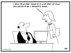 Business Cartoons - Teamwork Event...