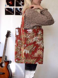 Red Bird Shopper Bag by Carriedawaylondon on Etsy, £20.00