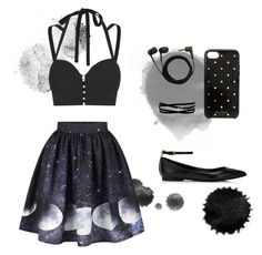 """night"" by vizonella on Polyvore featuring мода, Jonathan Simkhai, Sennheiser, Kate Spade и Kenneth Jay Lane"