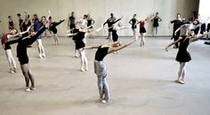 I love photos from classes, where everyone is wearing something different but they all are identical in movement :)