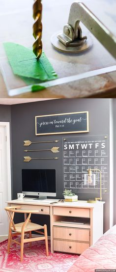 Calendario de pared sobre metacrilato - jenwoodhouse.com - DIY Acrylic Wall Calendar
