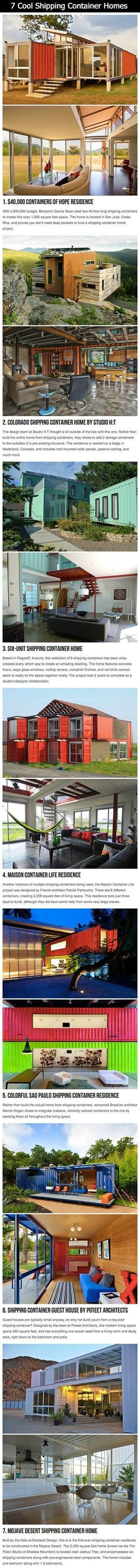 Container House 7 Extremely Cool and Creative Shipping Container Homes. Who Else Wants Simple Step-By-Step Plans To Design And Build A Container Home From Scratch? Container Home Designs, Building A Container Home, Container Cabin, Storage Container Homes, Container Buildings, Container Architecture, Cargo Container, Storage Containers, Shipping Container Swimming Pool