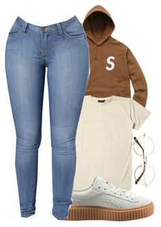 """""""Supreme ⭐️"""" by melaninaire ❤ liked on Polyvore featuring Puma"""