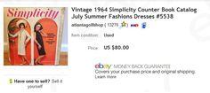 Vintage pattern book $8 at thrift store, sold for $80 on eBay  Make money selling vintage items on eBay
