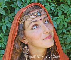 Magical Macrame Tiara / Necklace with by PrimitiveCraft on Etsy, $75.00